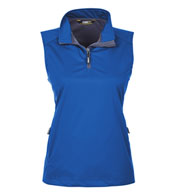 Custom Ladies Techno Lite Three-Layer Knit Quarter-Zip Vest