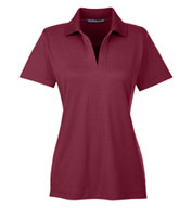 Custom Devon & Jones Ladies CrownLux Performance™ Plaited Polo