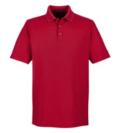 Custom Devon & Jones Mens Tall CrownLux Performance™ Plaited Polo