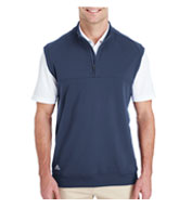 Custom Adidas Golf Mens 1/4 Zip Club Vest