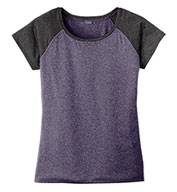 Custom Sport-Tek® Ladies Heather-On-Heather Contender™ Scoop Neck Tee