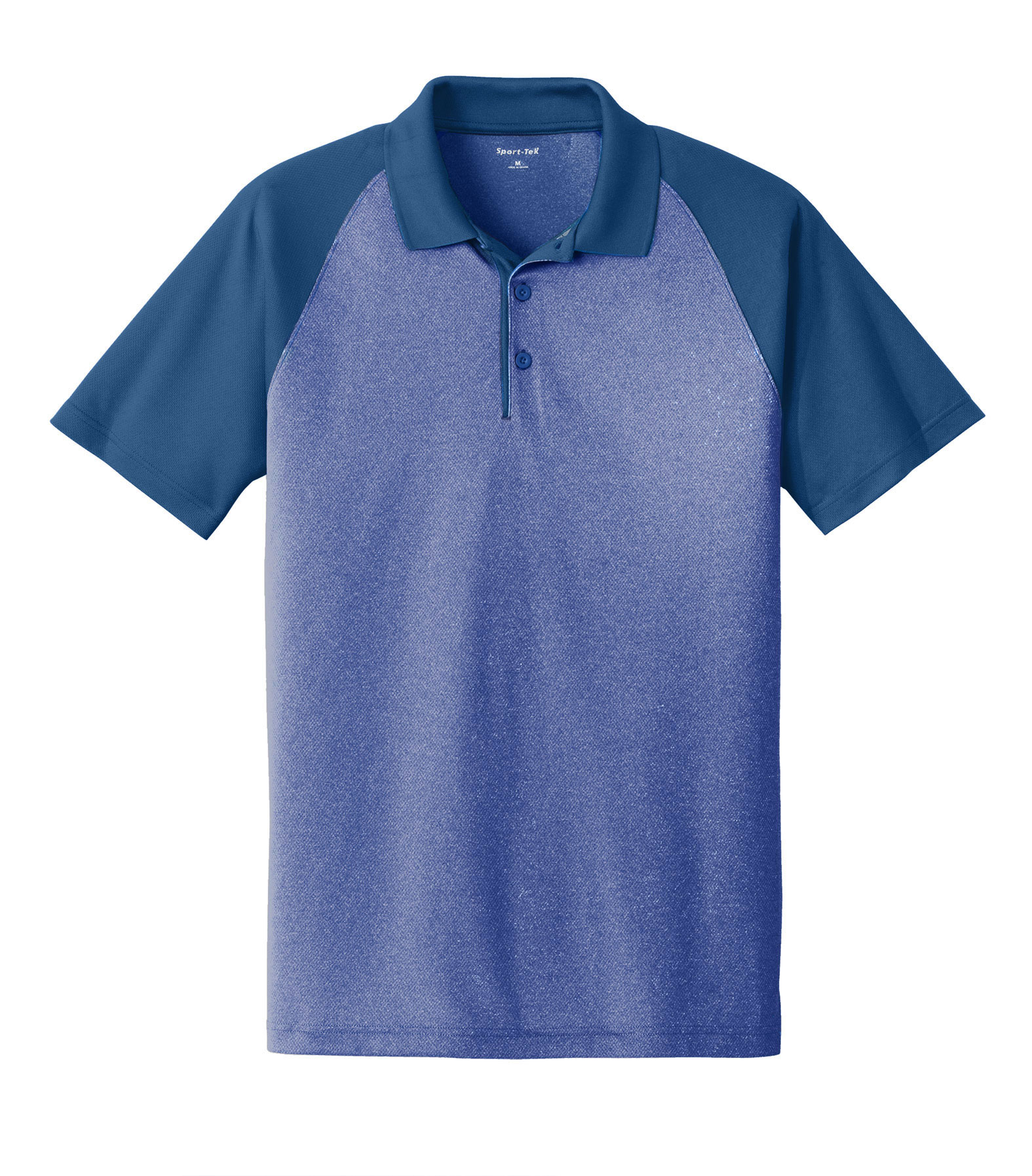 Adult PosiCharge® RacerMesh® Raglan Heather Block Polo