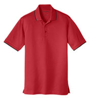 Custom Port Authority Mens Dry Zone UV Micro Mesh Tipped Polo