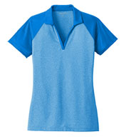 Custom Ladies PosiCharge® RacerMesh® Raglan Heather Block Polo