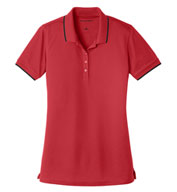 Custom Port Authority Ladies Dry Zone UV Micro-Mesh Tipped Polo