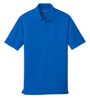 Custom Port Authority® Mens Dry Zone® UV Micro-Mesh Pocket Polo