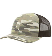 Custom Richardson Multicam Trucker Cap