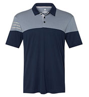 Custom Adidas Golf 3-Stripes Heather Block Mens Polo