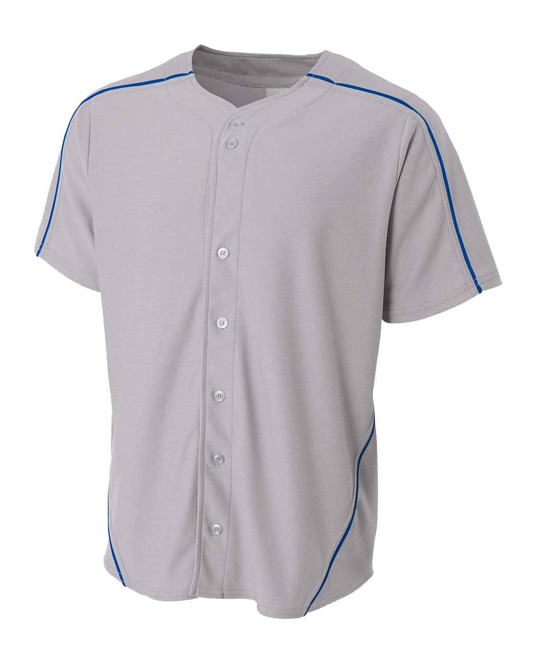 Mens Warp Knit Baseball Jersey