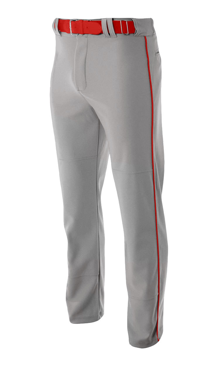 Mens Pro Style Open Bottom Baggy Cut Baseball Pant