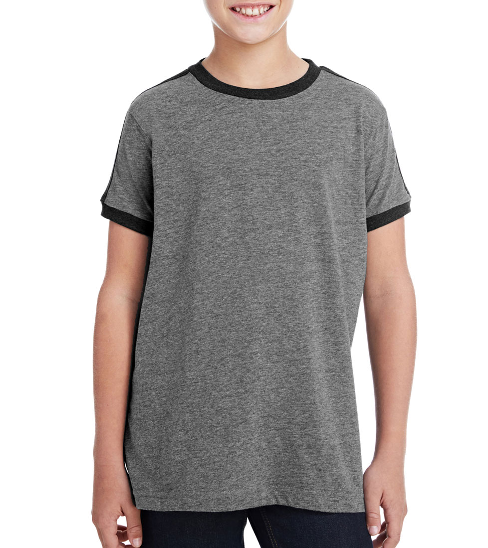d3dd252f5 LAT Youth Soccer Ringer Fine Jersey T-Shirt - Design Online or Buy It Blank