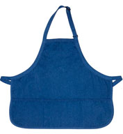 Custom Rounded Denim Three Pocket Bib Apron