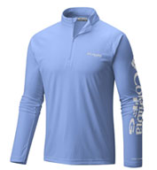 Custom Columbia Mens Terminal Tackle Long Sleeve 1/4-Zip Shirt