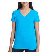 Custom Threadfast Apparel Ladies Invisible Stripe V-Neck Tee