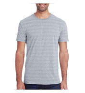 Custom Threadfast Apparel Mens Invisible Stripe Short Sleeve Tee