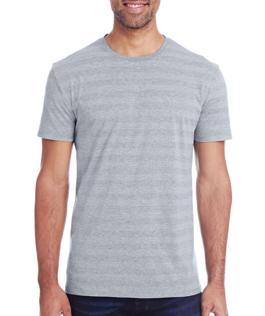 Threadfast Apparel Mens Invisible Stripe Short Sleeve Tee