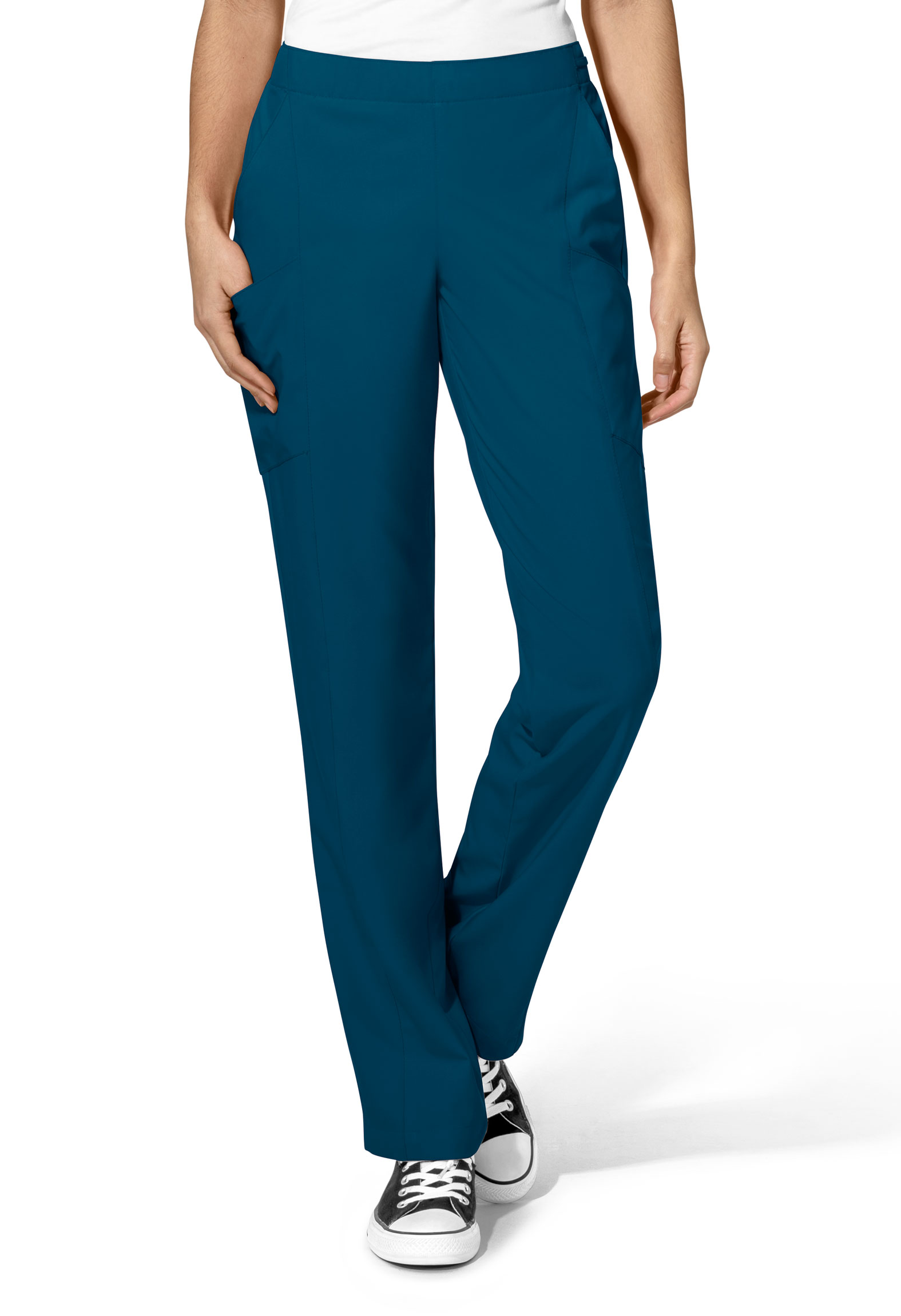 WonderWink® W123 Womens Flat Front Double Cargo Pant