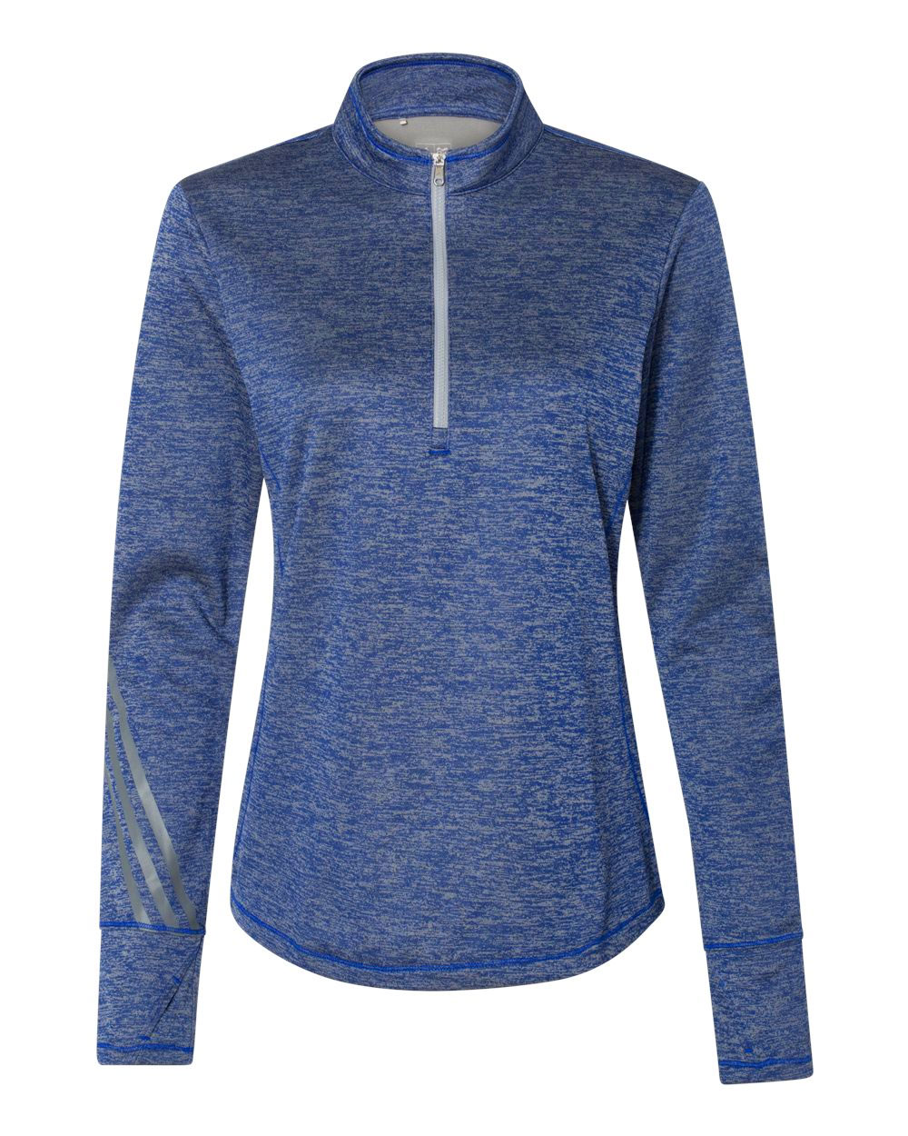 Adidas Womens Brushed Terry Heather 1/4 Zip Pullover