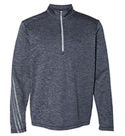 Custom Adidas Mens Brushed Terry Heathered Quarter-Zip Pullover
