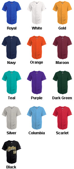 Adult Home Run Pro Weight 6-Button Baseball Jersey - All Colors