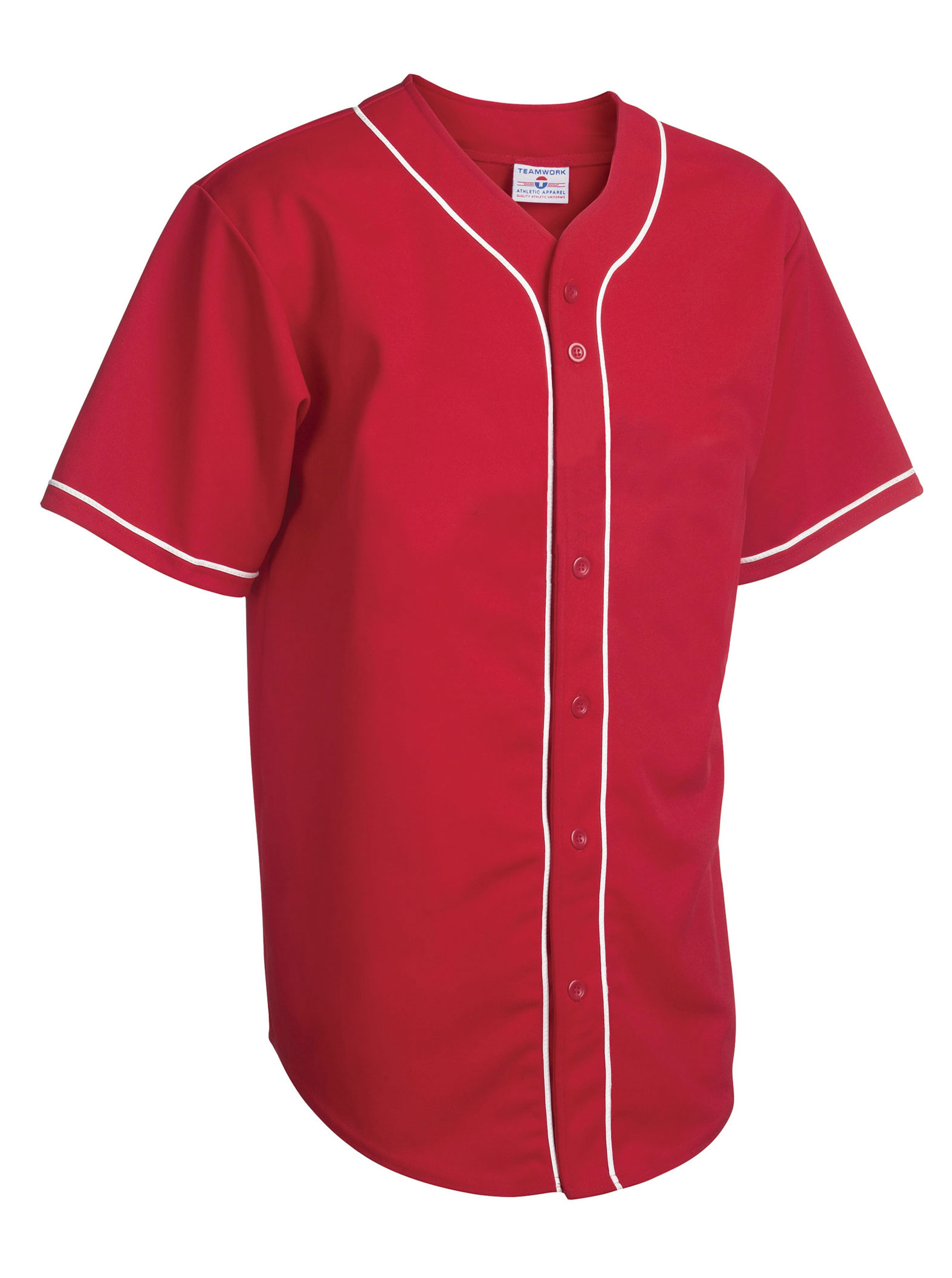 Teamwork Adult Walk Off Baseball Jersey with Sewn-On Braid - CLOSEOUT