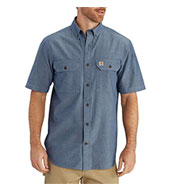 Custom Carhartt Mens M Fort Solid Short Sleeve Shirt