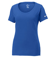 Custom Nike Ladies Core Cotton Scoop Neck Tee