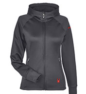 Custom Spyder Ladies Hayer Full-Zip Hooded Fleece Jacket
