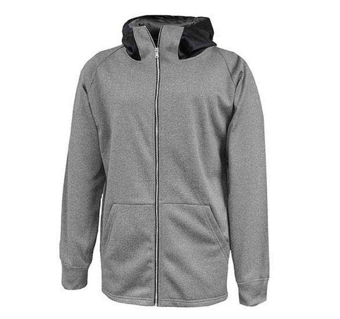 Mens Performance  Fleece Full Zip Sweatshirt