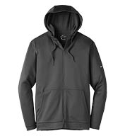 Custom Nike Mens Therma-FIT Full-Zip Fleece Hoodie