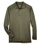 Custom Harriton Mens Tactical Long-Sleeve Performance Polo