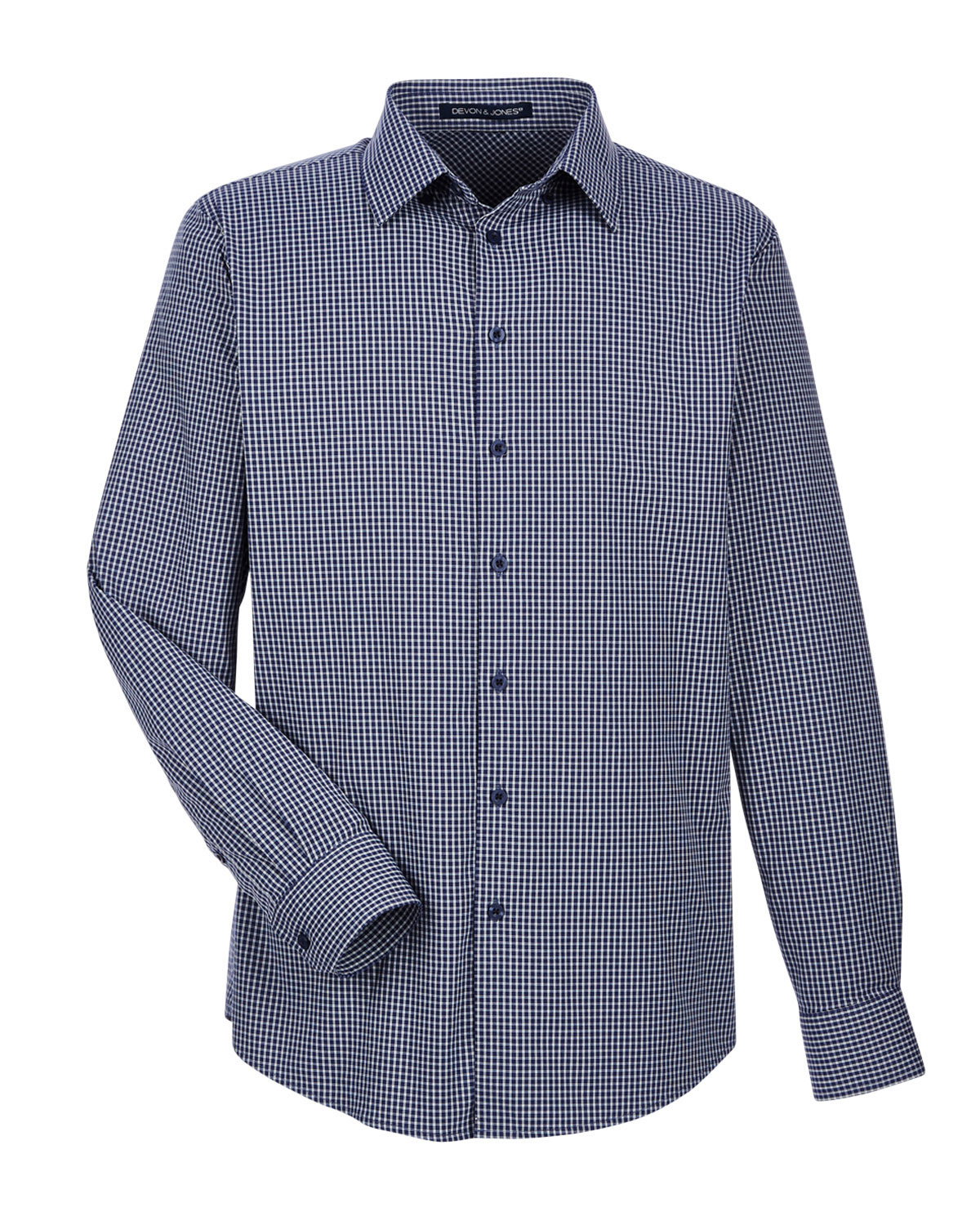 Mens CrownLux Performance Tonal Mini Check Shirt
