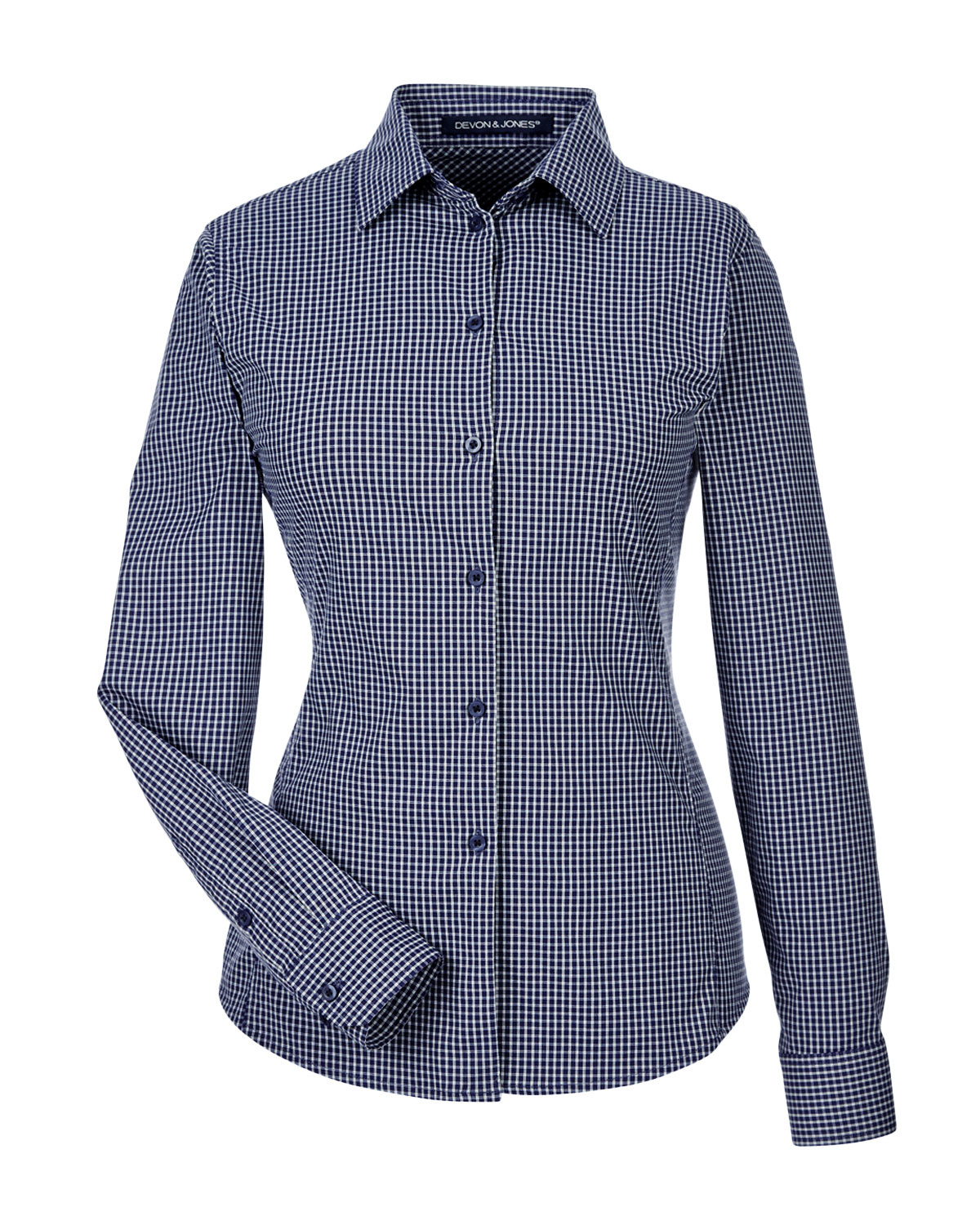 826aa2a9b Ladies CrownLux Performance Tonal Mini Check Shirt - Design Online or Buy  It Blank