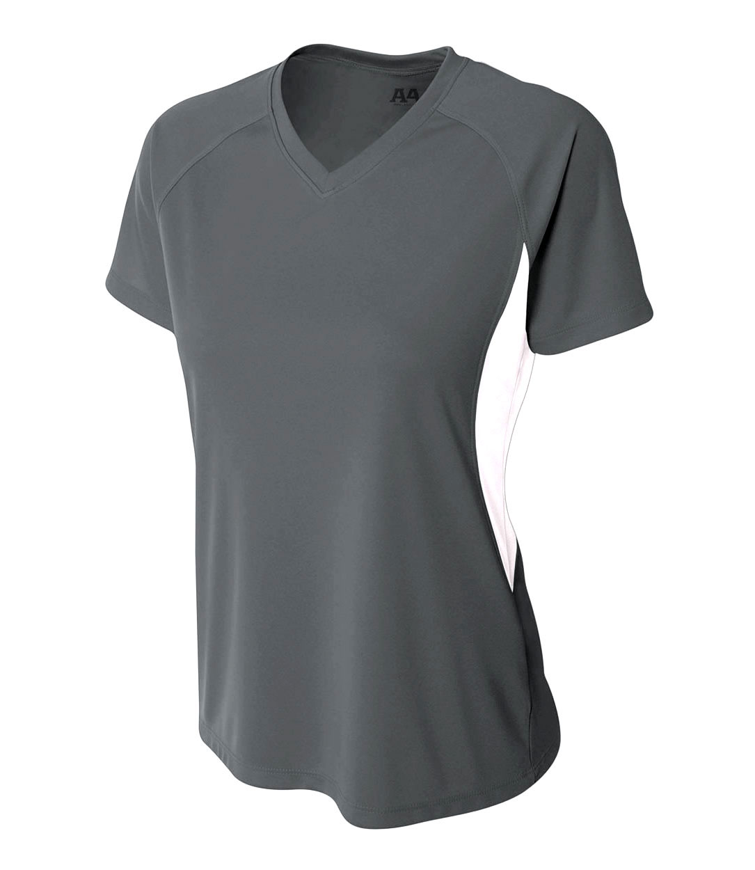 A4 Womens Cooling Performance Color Blocked V-Neck