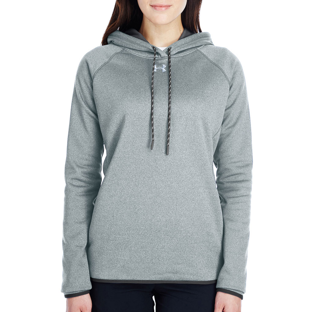 19346d0c6501 Custom Ladies Under Armour Double Threat Armour Fleece® Hoodie