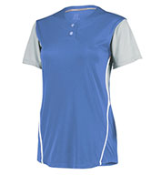 Custom Russell Ladies Performance Two-Button Color Block Jersey
