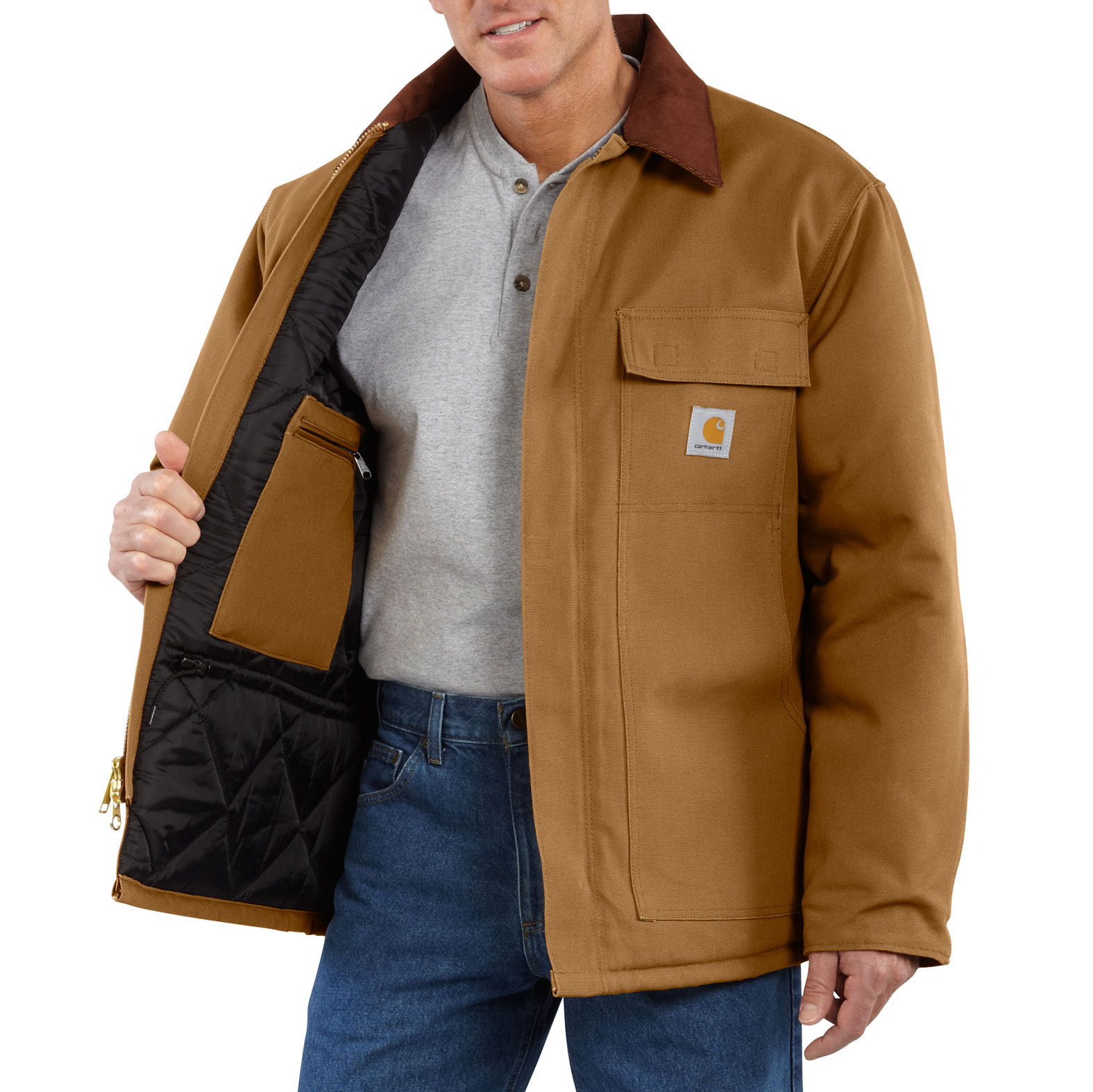 Carhartt Tall Duck Traditional Coat / Arctic Quilt Lined