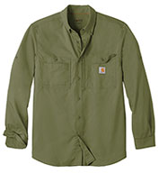 Custom Adult Carhartt Force® Ridgefield Solid Long Sleeve Shirt