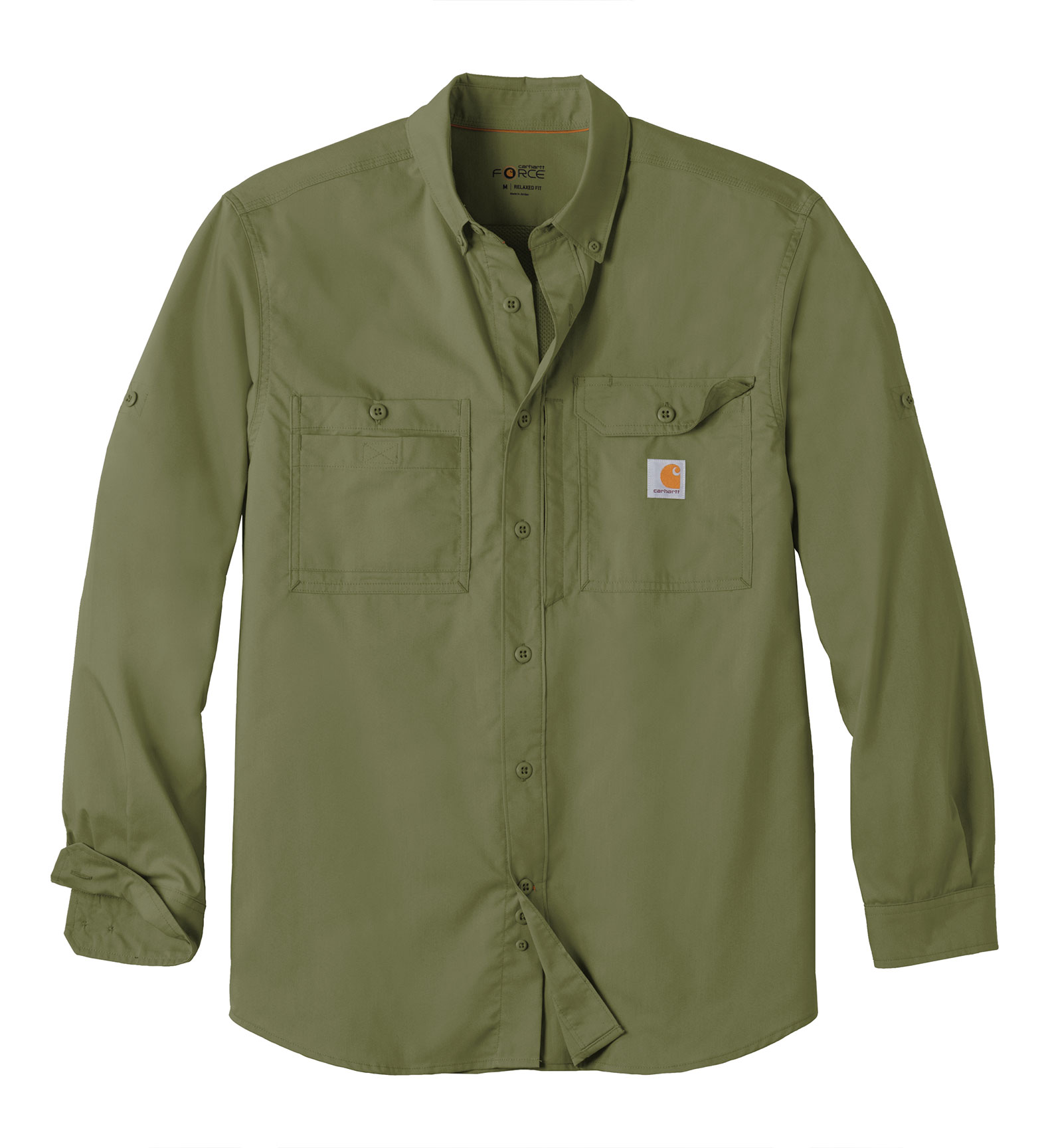 Adult Carhartt Force® Ridgefield Solid Long Sleeve Shirt