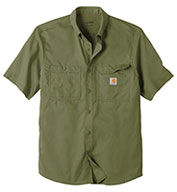 Custom Carhartt Force® Ridgefield Solid Short Sleeve Shirt
