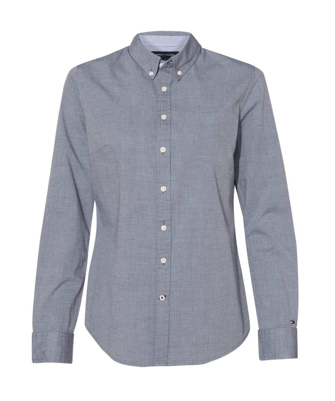 Tommy Hilfiger - Womens Capote End-on-End Chambray Shirt