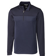 Custom Cutter & Buck Mens Big and Tall Traverse Stripe Half-Zip