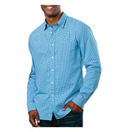 Custom Mens Long-Sleeve Gingham Check Shirt