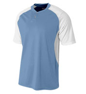 Custom A4 Mens 2-Button Henley w/Contrast Stretch Mesh