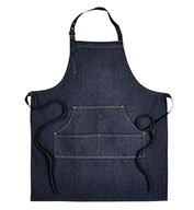 Custom Artisan Collection Unisex Jeans Stitch Denim Bib Apron
