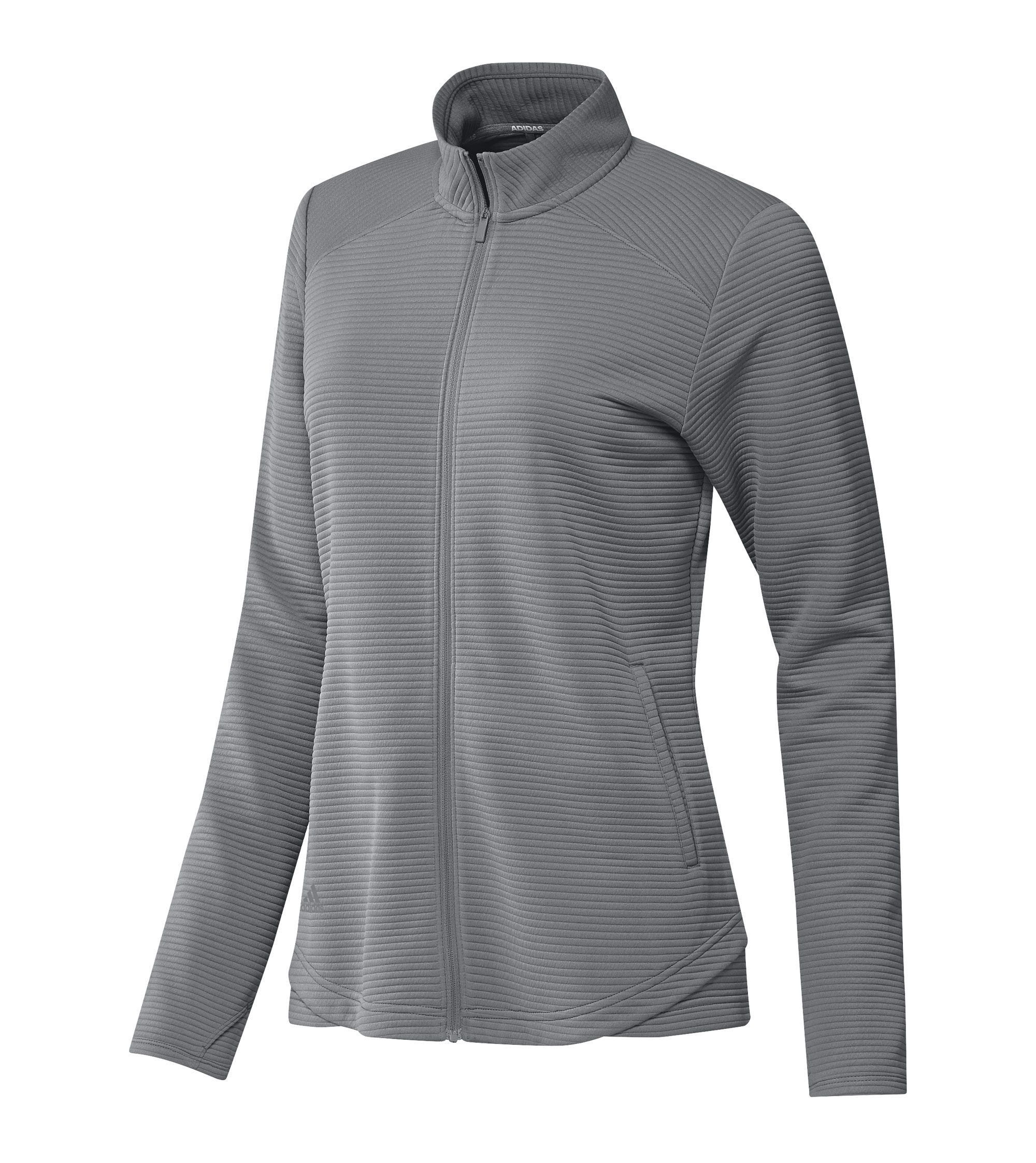 Adidas Womens Lifestyle Textured Full-Zip Jacket