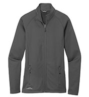Custom Eddie Bauer® Ladies Smooth Fleece Base Layer Full-Zip