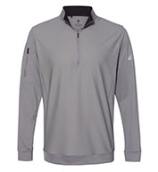 Custom Adidas Adult Performance Texture Quarter-Zip Pullover