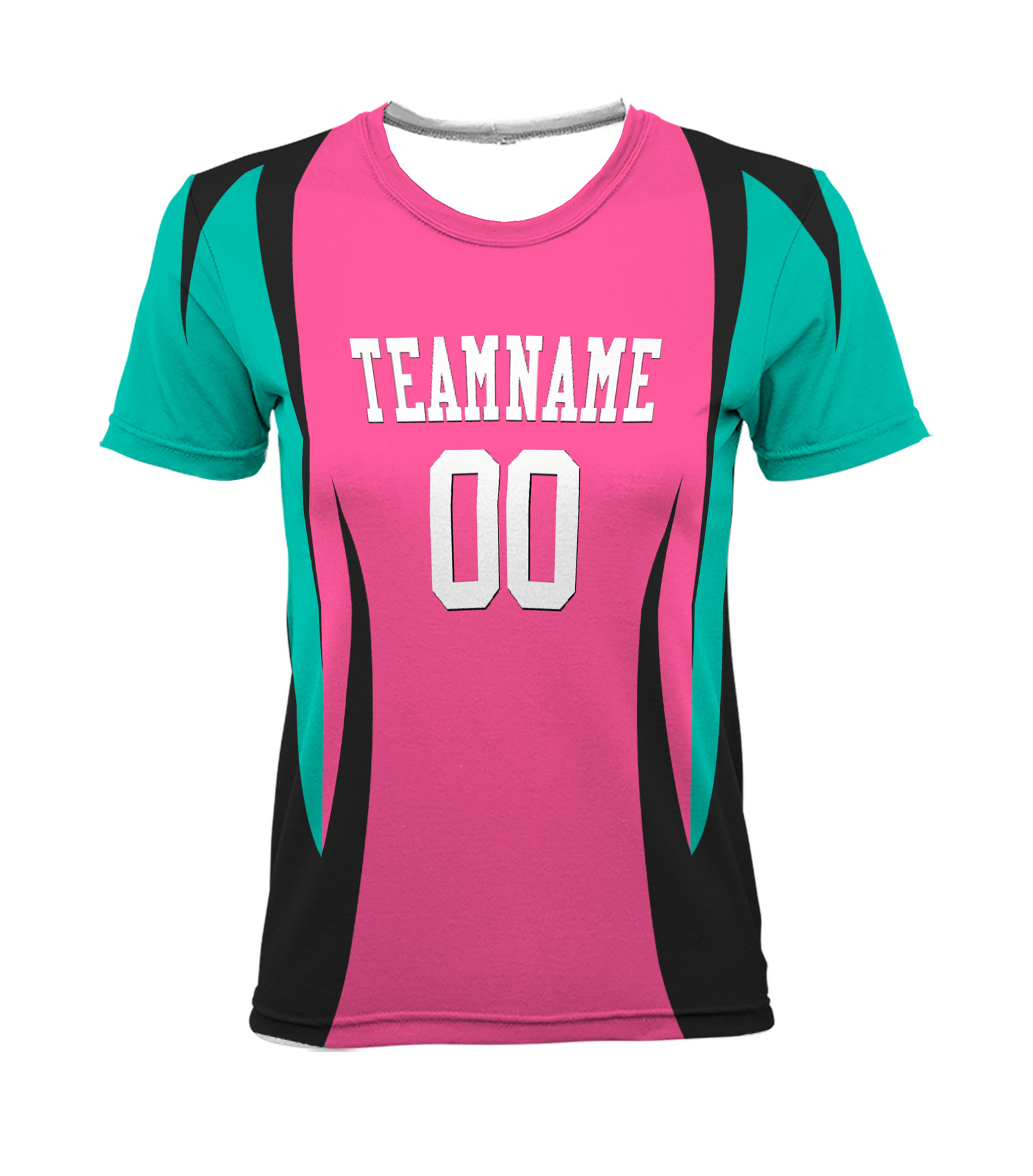 Custom Ladies Sublimated Crew Neck T-Shirt