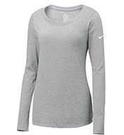 Custom Nike Ladies Core Cotton Long Sleeve Scoop Neck Tee
